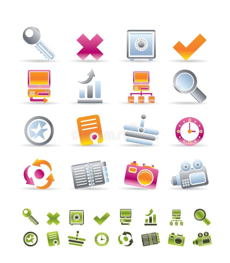 Icone di Web site e del Internet illustrazione di stock