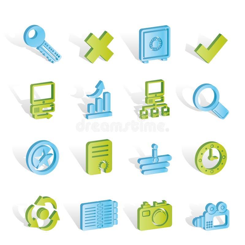 Icone di Web site e del Internet illustrazione vettoriale