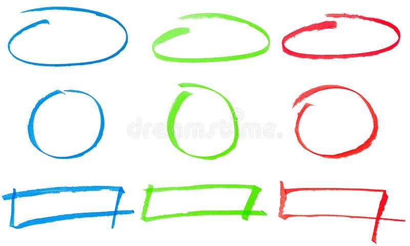 Icone dissipate abbozzate illustrazione di stock