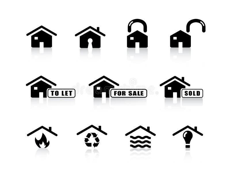 Icone domestiche illustrazione vettoriale