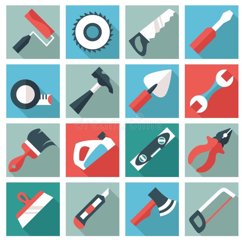 Icone domestiche dello strumento illustrazione di stock