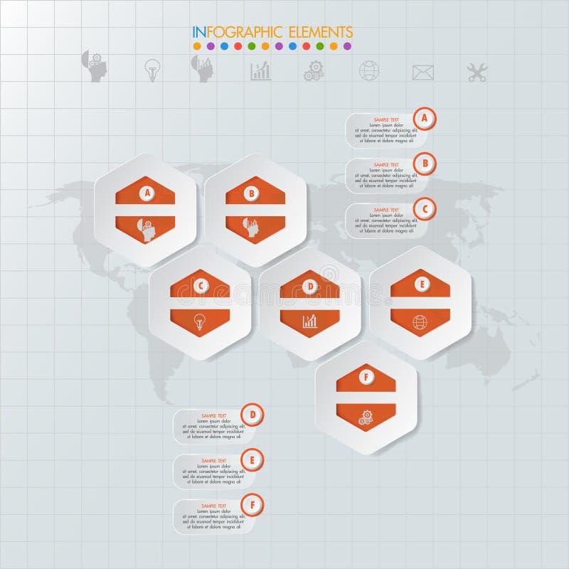 Icone e Busi di vendita di progettazione e del modello di Infographic royalty illustrazione gratis