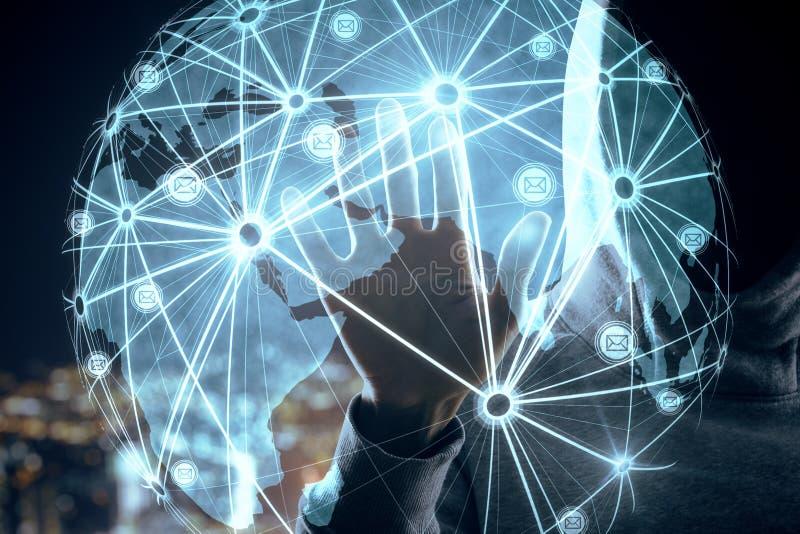Icone e concetto interattivi di informazioni immagini stock