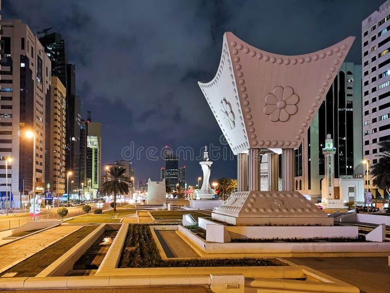 Icone e monumenti significativi in Abu Dhabi, situato nel centro della città, i UAE fotografie stock