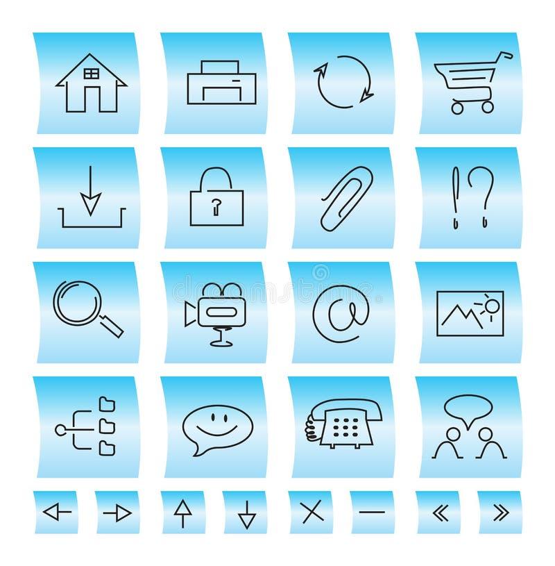 Icone e pulsanti del sito Web, illustrazione fotografia stock libera da diritti