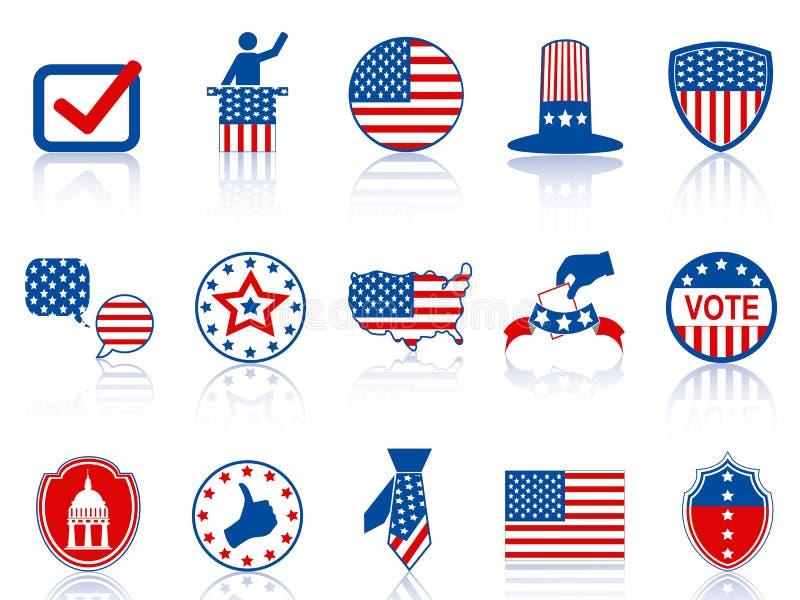 Icone e tasti di elezione illustrazione vettoriale