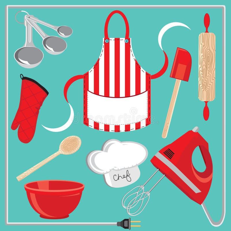 Download Icone Ed Elementi Di Cottura Immagine Stock - Immagine di partito, spatula: 19843467
