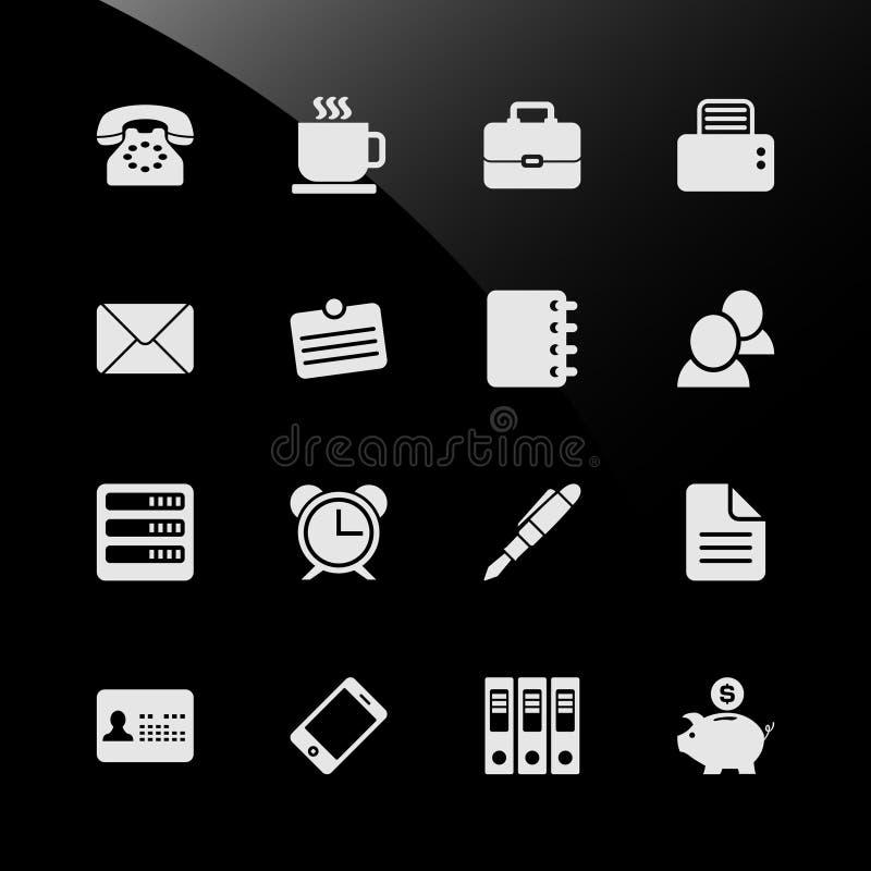 Icone finanziarie di Web di affari del posto di lavoro del lavoro d'ufficio illustrazione di stock