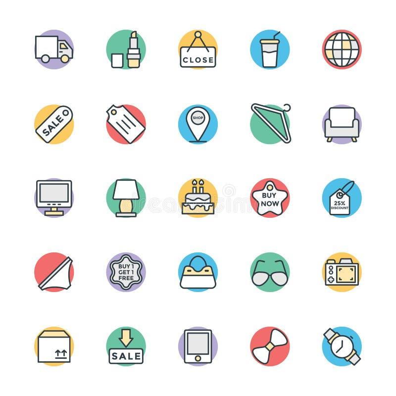 Icone fresche di compera 3 di vettore illustrazione di stock