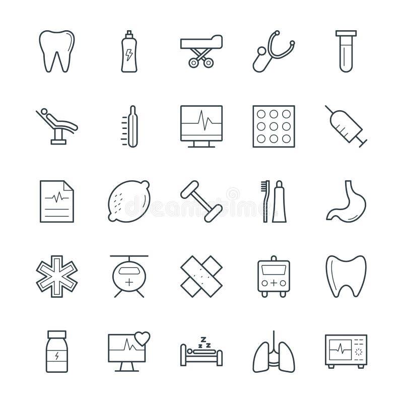 Icone fresche 8 di salute e mediche di vettore illustrazione di stock
