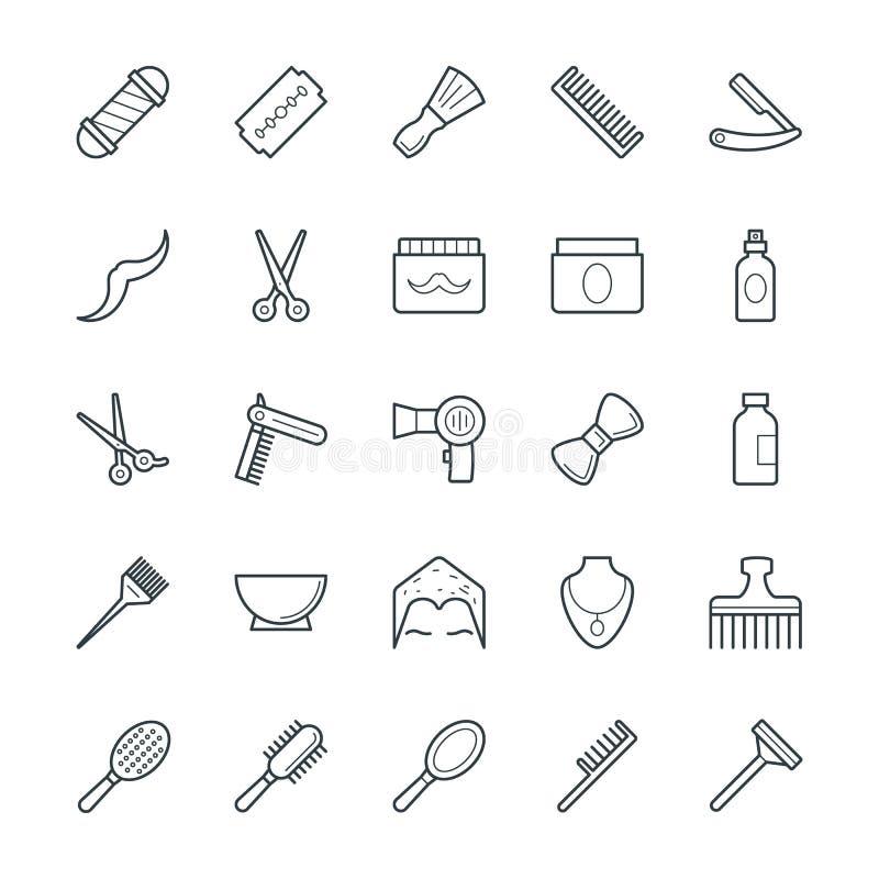 Icone fresche 1 di vettore del salone di capelli illustrazione di stock