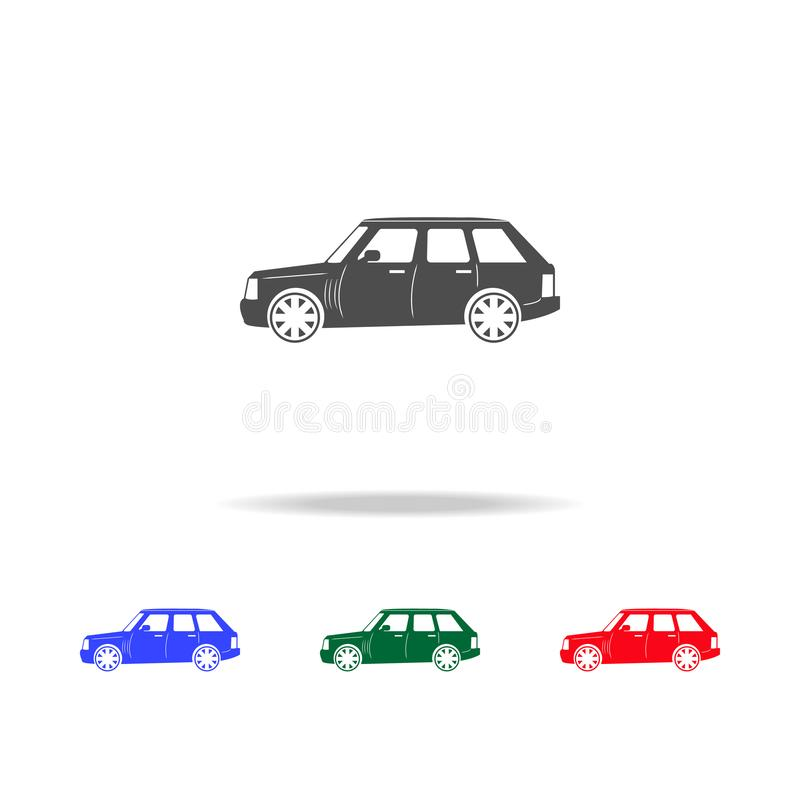 Icone fuori strada di lusso dell'automobile Elementi dell'elemento di trasporto nelle multi icone colorate Icona premio di proget royalty illustrazione gratis