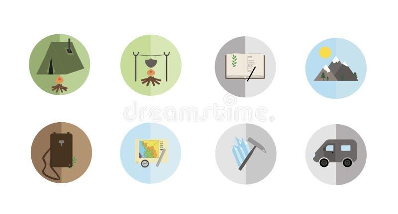 Icone geologiche illustrazione vettoriale