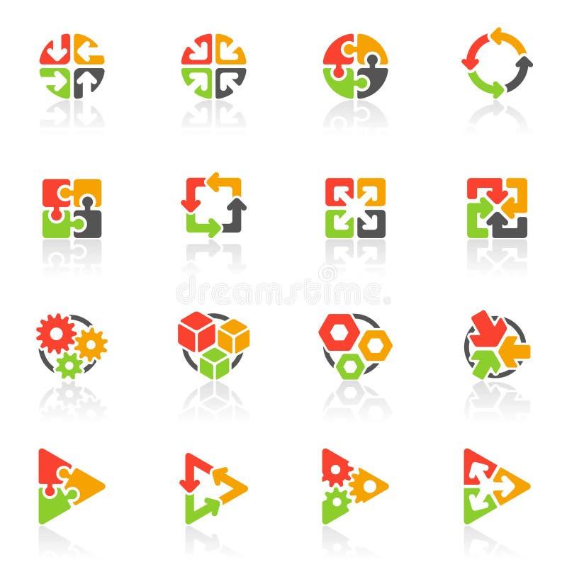 Icone geometriche astratte. Elementi per il disegno. illustrazione di stock