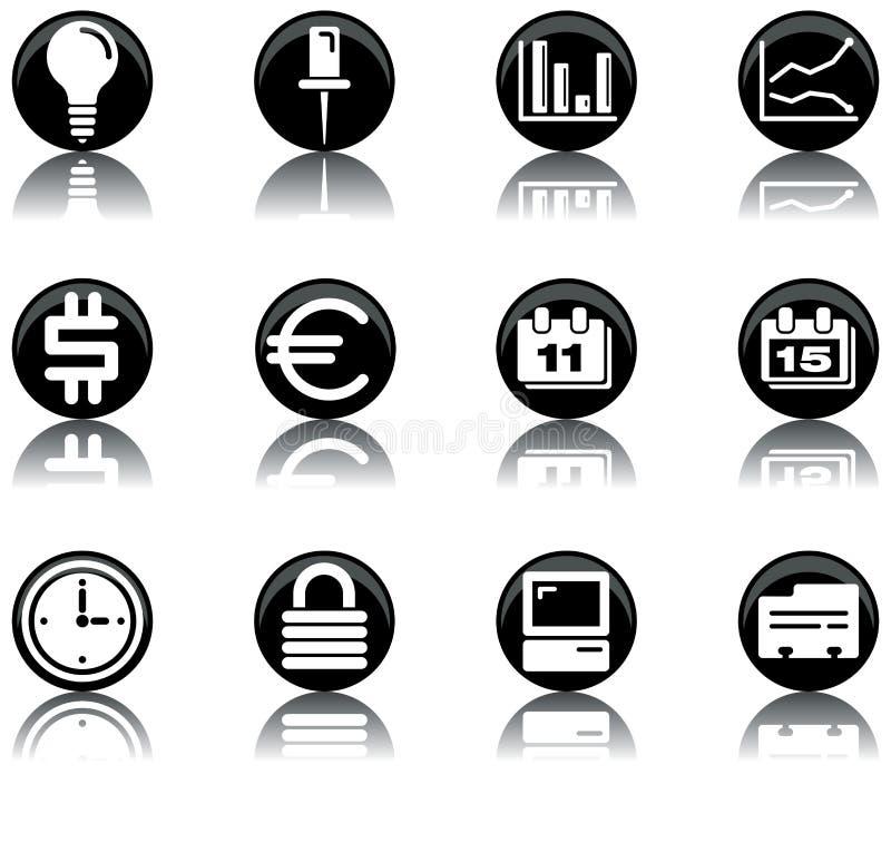 Icone - il commercio ha impostato 2 illustrazione di stock