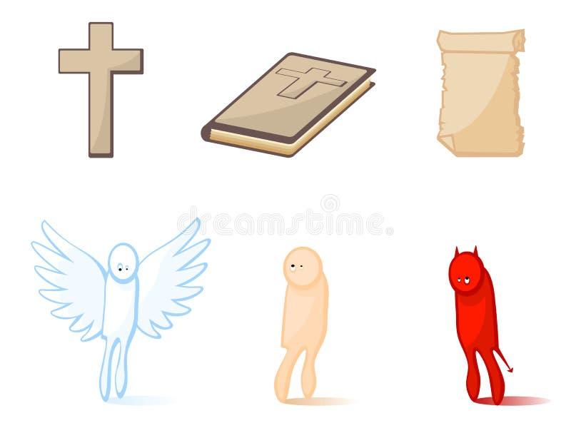 Icone il religioso illustrazione di stock