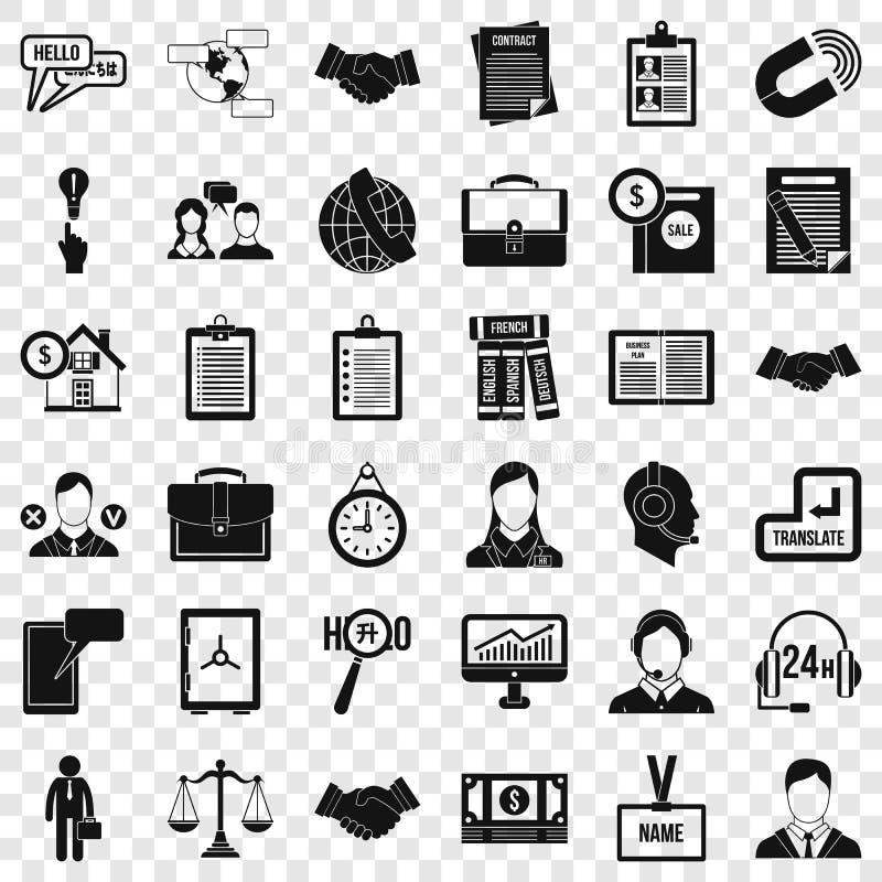 Icone importanti messe, stile semplice di discussione illustrazione di stock