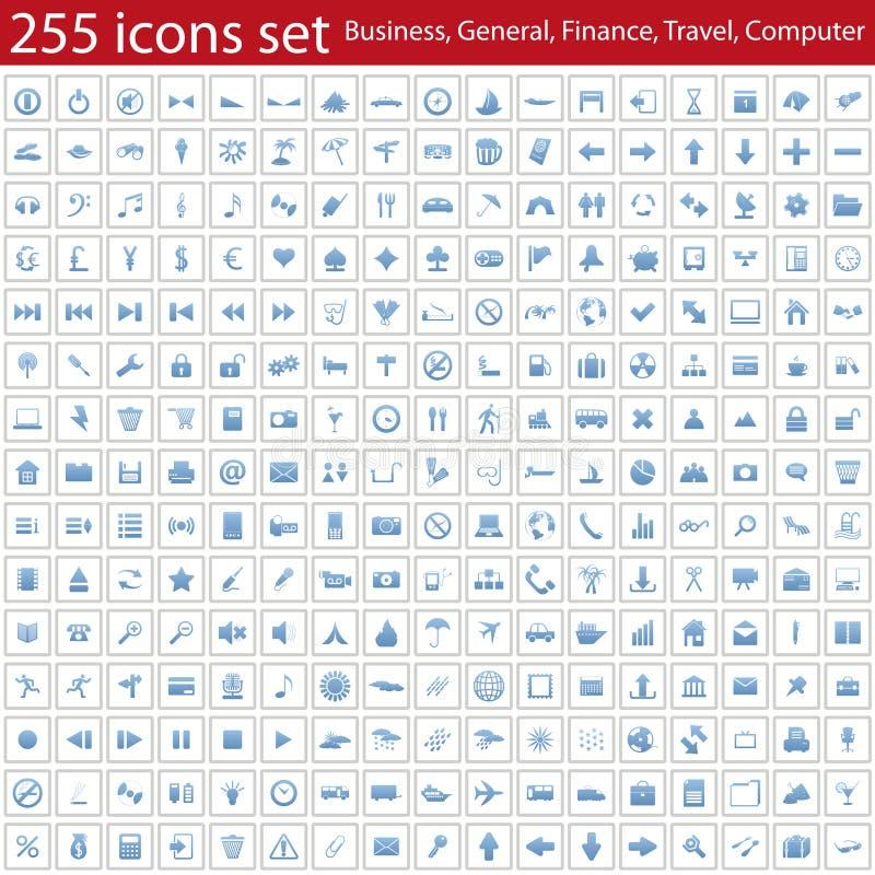 Icone impostate illustrazione di stock