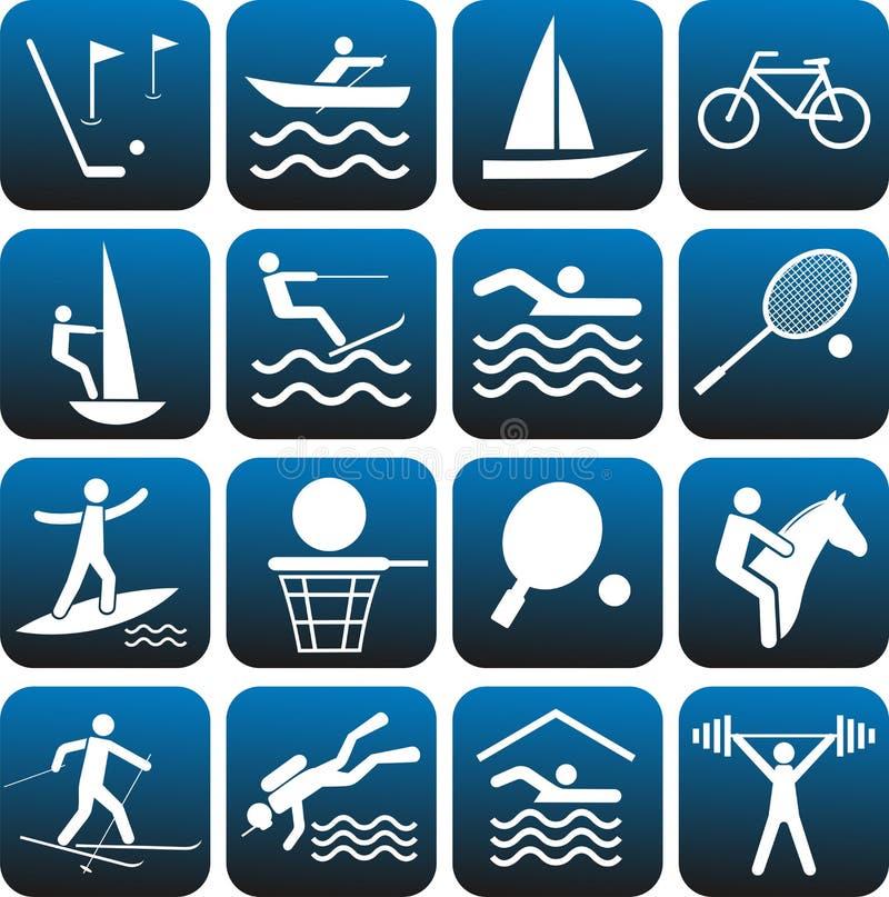 Icone impostate. illustrazione di stock