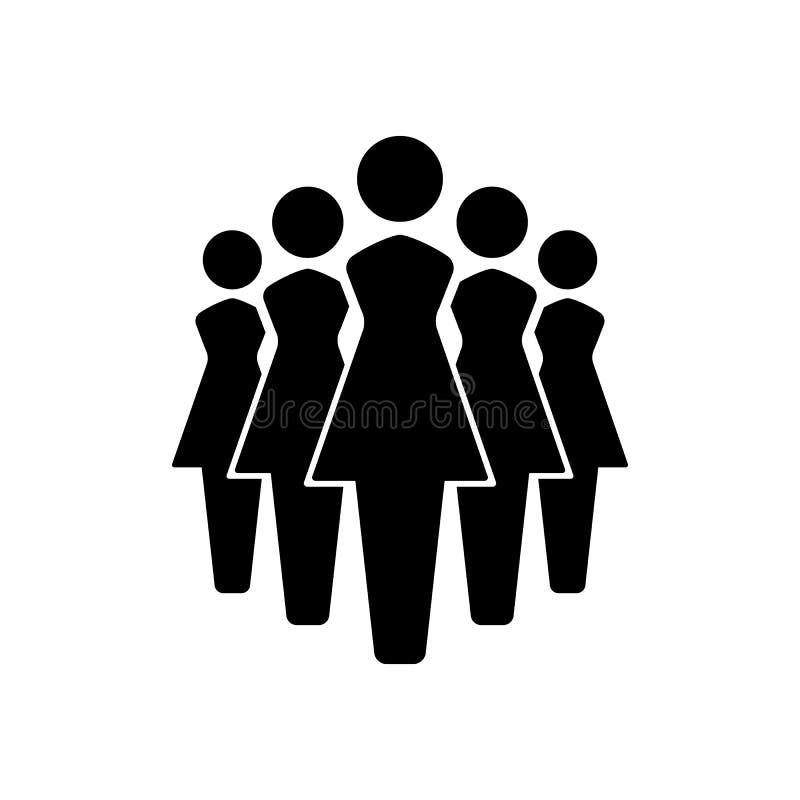 Icone insieme, gruppo delle donne dell'icona del gruppo Illustrazione EPS10 di vettore royalty illustrazione gratis