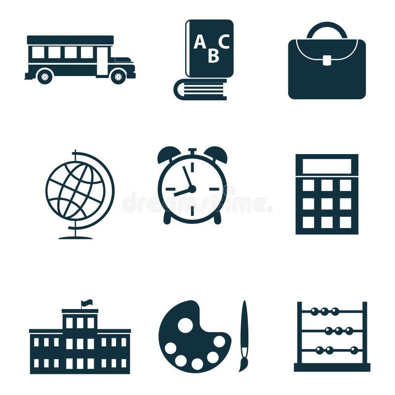 Icone isolate scuola illustrazione vettoriale