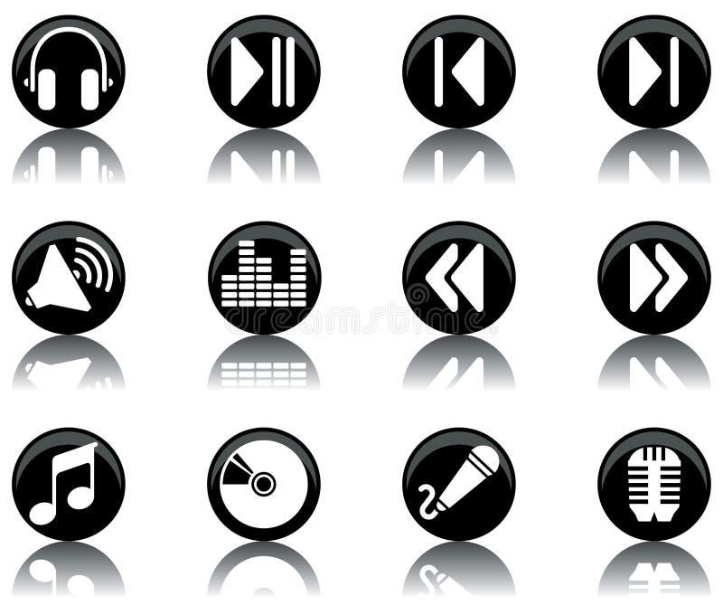 Icone - la musica ha impostato 2 illustrazione vettoriale