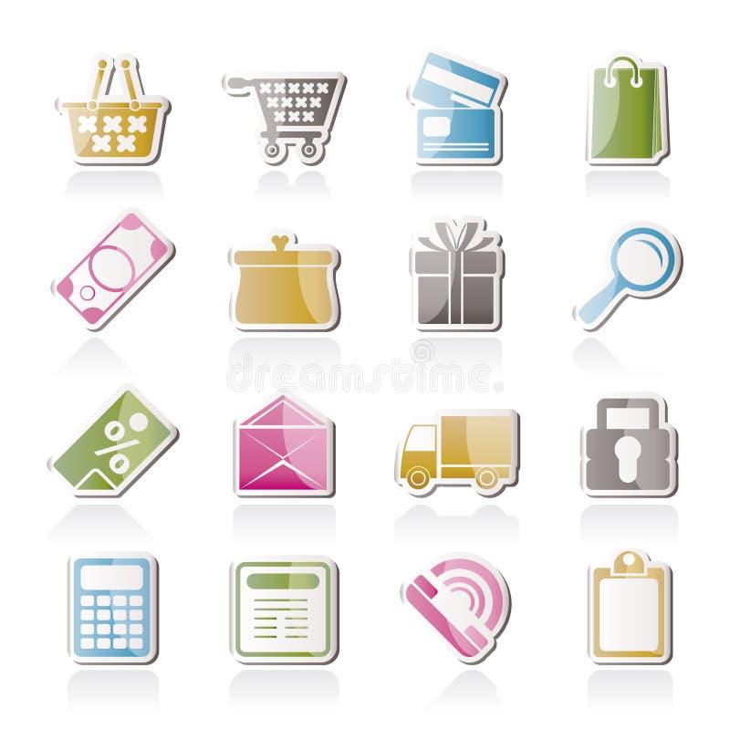 Icone in linea del negozio royalty illustrazione gratis