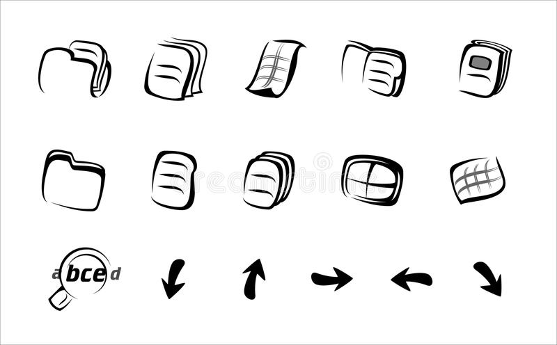 Icone lineari illustrazione vettoriale