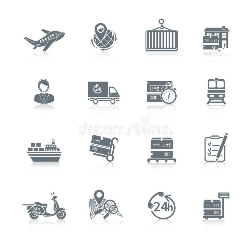 Icone logistiche impostate royalty illustrazione gratis