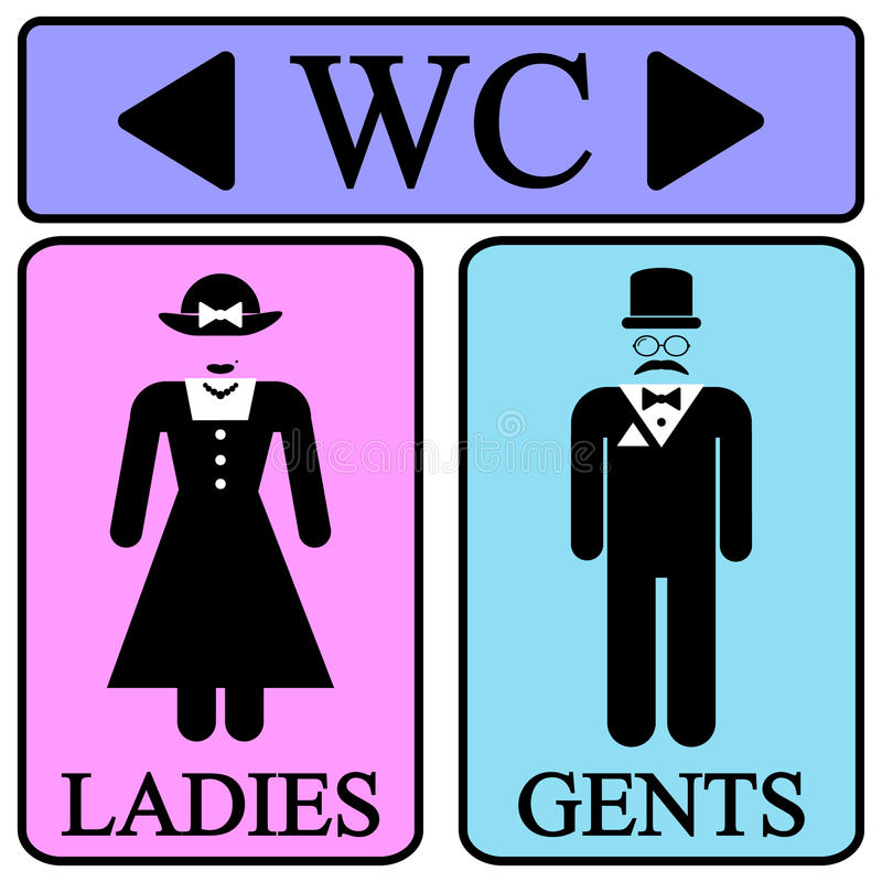 Icone maschii e femminili di simbolo della toilette illustrazione vettoriale immagine 42144094 - Foto de toilette ...