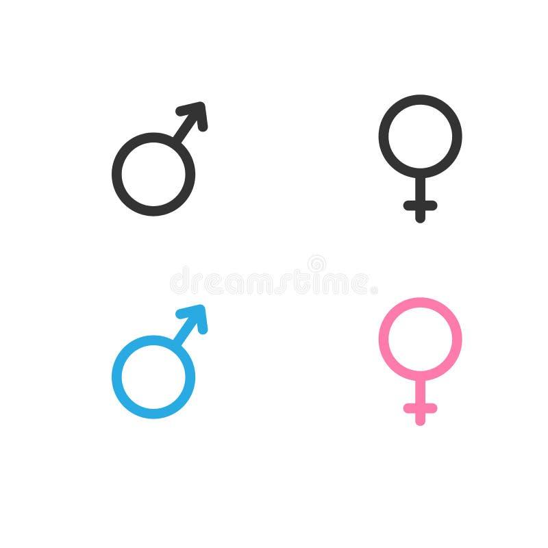 Icone maschii e femminili Illustrazione royalty illustrazione gratis