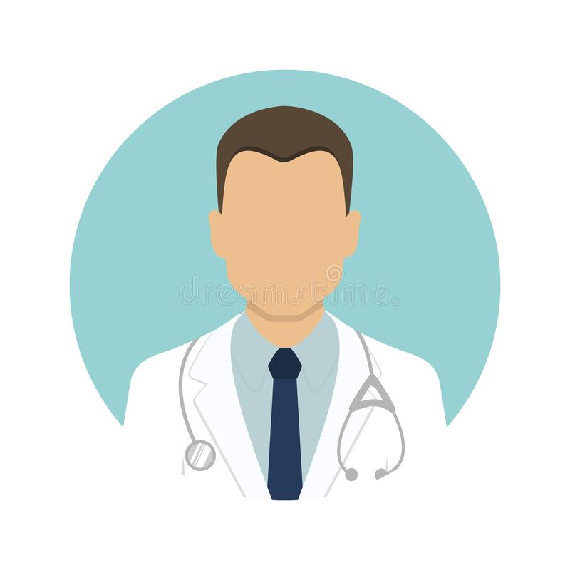 Icone mediche Avatar dell'infermiere e di medico Illustrazione di vettore illustrazione di stock