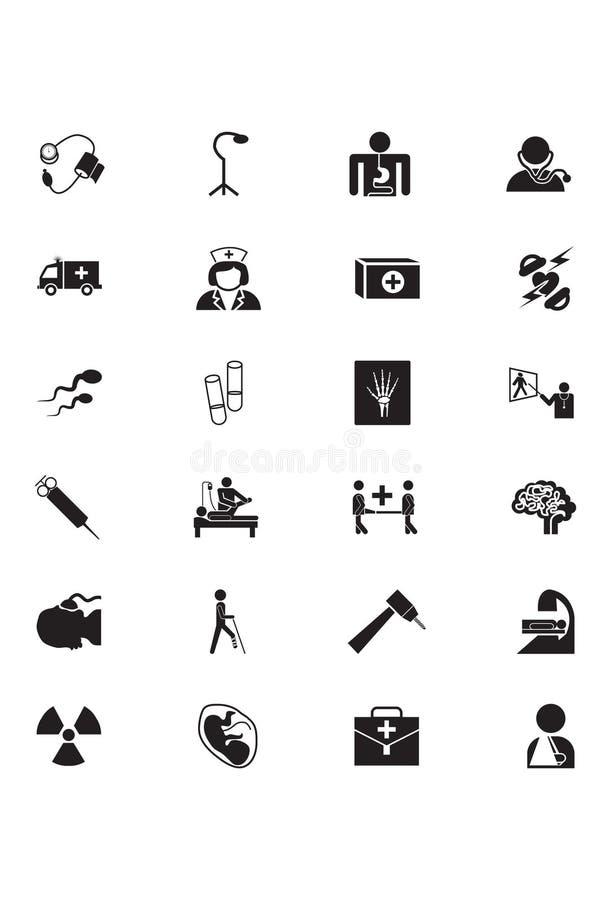 Icone mediche 5 di vettore illustrazione vettoriale