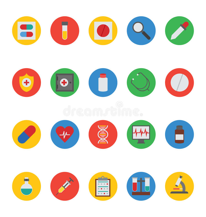Icone mediche 1 di vettore illustrazione di stock
