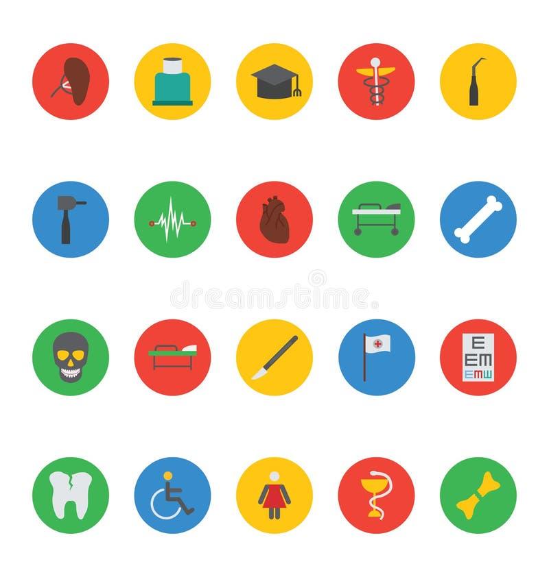 Icone mediche 6 di vettore illustrazione vettoriale