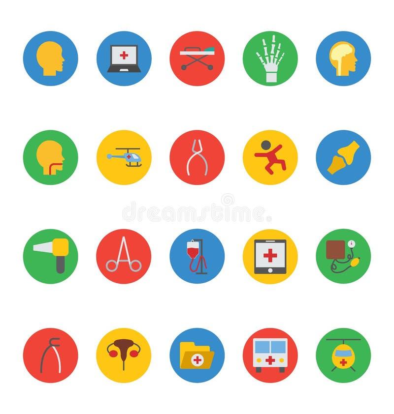 Icone mediche 7 di vettore royalty illustrazione gratis