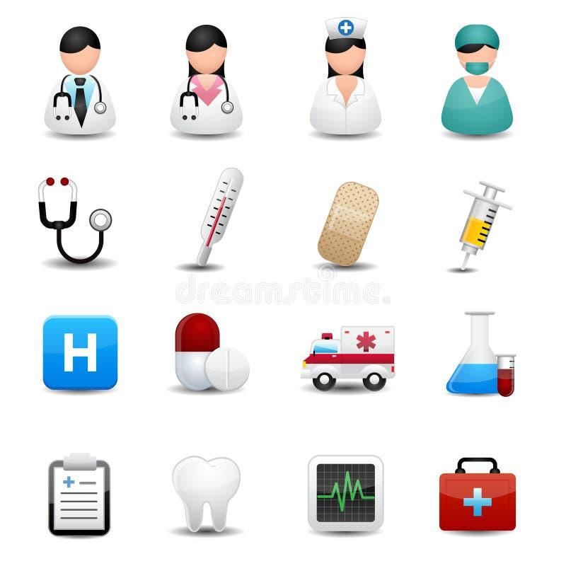 Icone mediche messe  royalty illustrazione gratis