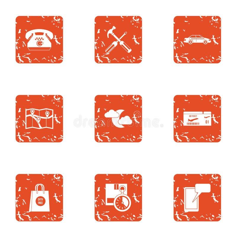 Icone messe, stile di giorno di galà di lerciume royalty illustrazione gratis
