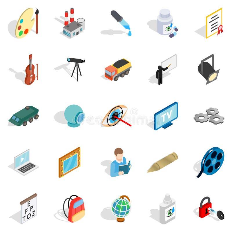 Icone messe, stile isometrico di atti illustrazione di stock