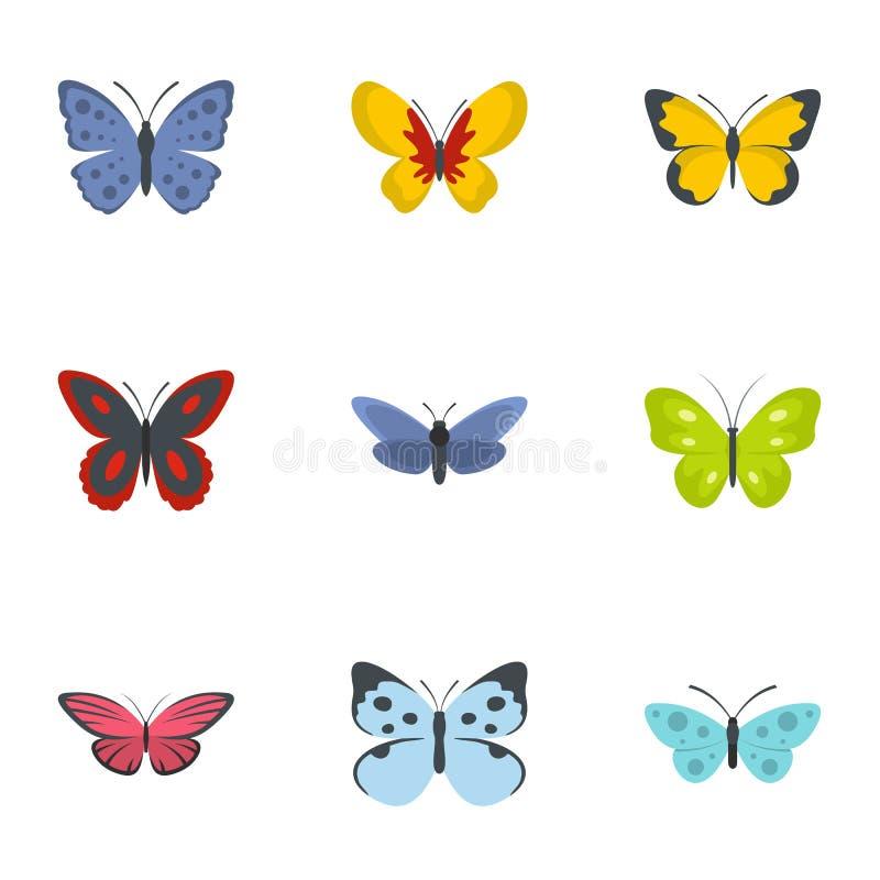 Icone messe, stile piano della farfalla illustrazione vettoriale