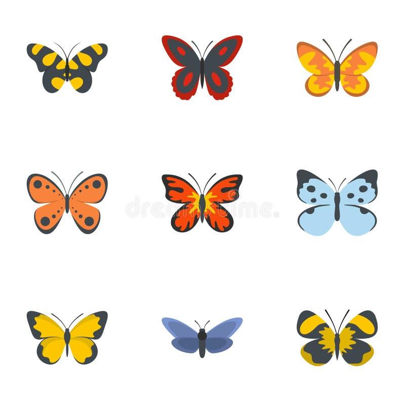 Icone messe, stile piano della farfalla di notte illustrazione vettoriale