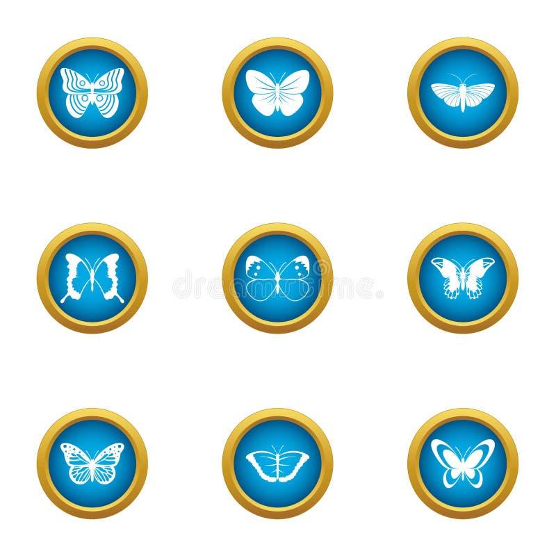 Icone messe, stile piano di ricerca della farfalla illustrazione vettoriale