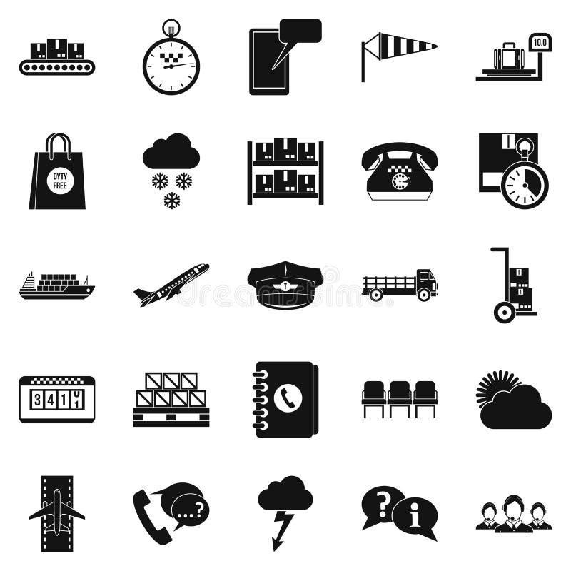 Icone messe, stile semplice del soprintendente royalty illustrazione gratis