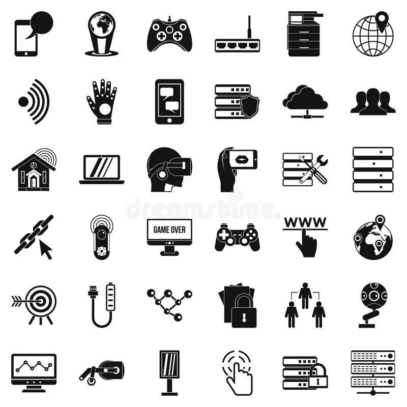 Icone messe, stile semplice del trasmettitore royalty illustrazione gratis