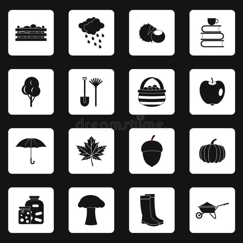 Icone messe, stile semplice di autunno royalty illustrazione gratis