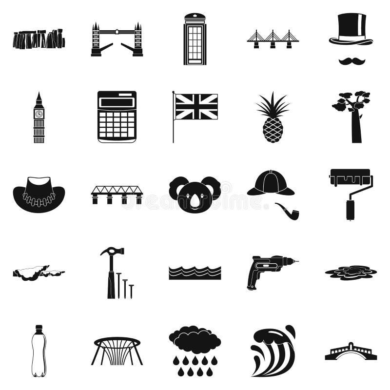 Icone messe, stile semplice di Crossway royalty illustrazione gratis