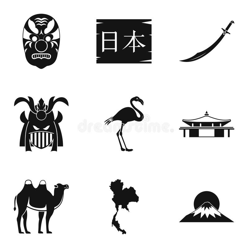 Icone messe, stile semplice di epoca royalty illustrazione gratis