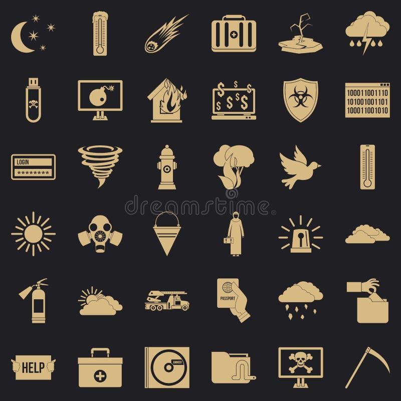 Icone messe, stile semplice di origine illustrazione vettoriale