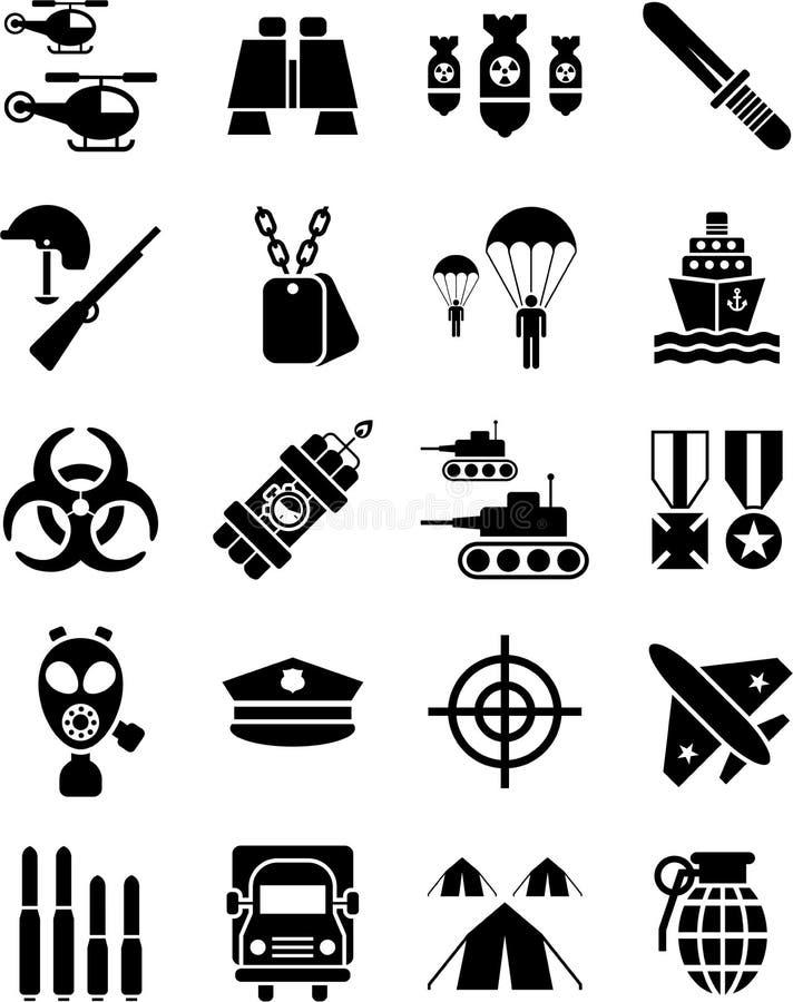 Icone Militari Immagini Stock