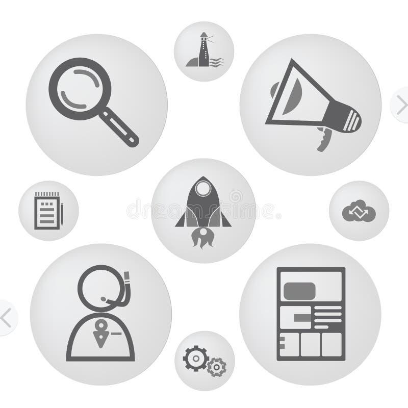 Icone minimalisti dell'interfaccia royalty illustrazione gratis